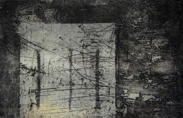 One of One intaglio/monotype by Portland, Oregon artist Garrett Price