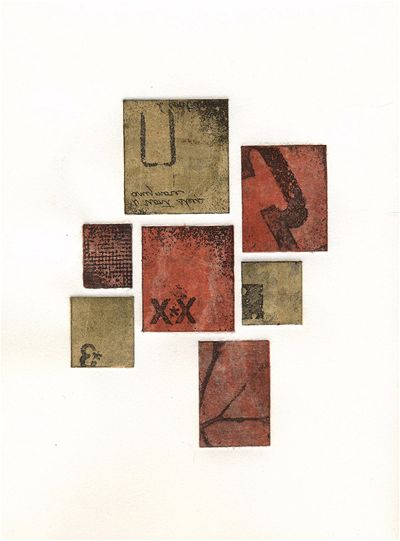 Intaglio/monotype print by Portland, Oregon artist Garrett Price